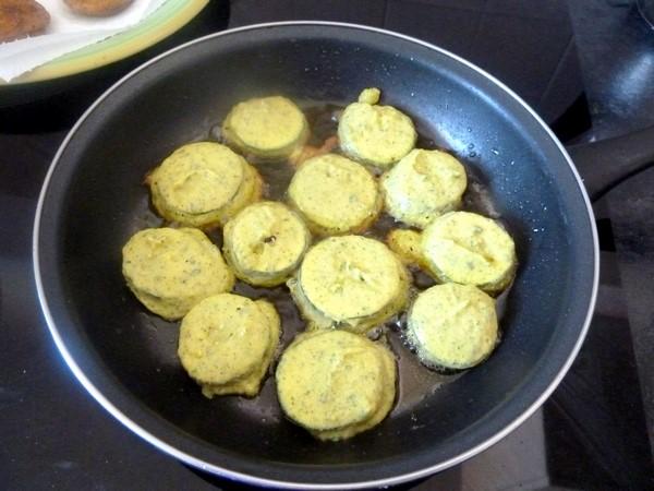 courgettes en beignets ronds