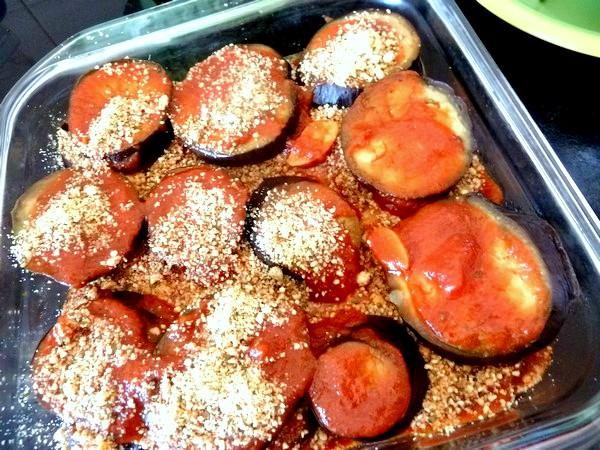 aubergines sauce tomate et noix de cajou couche bis
