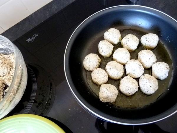 boulettes de tofu aux epices cuisson huile olive