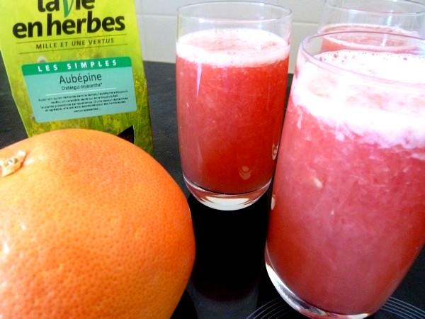 smoothie pomelos rose fenouil aubepine ingredients
