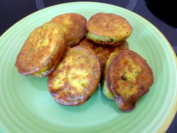 courgettes en beignets assiette
