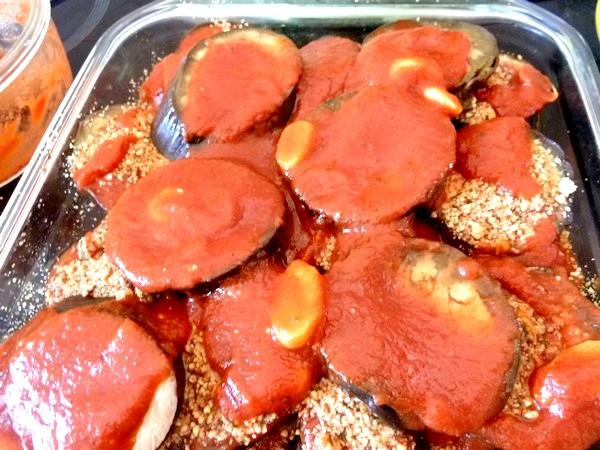 aubergines sauce tomate et noix de cajou tomates 3