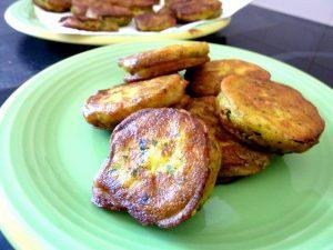 courgettes en beignets dressage
