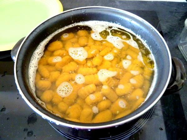 gnocchis de pommes de terre aux epices cuisson