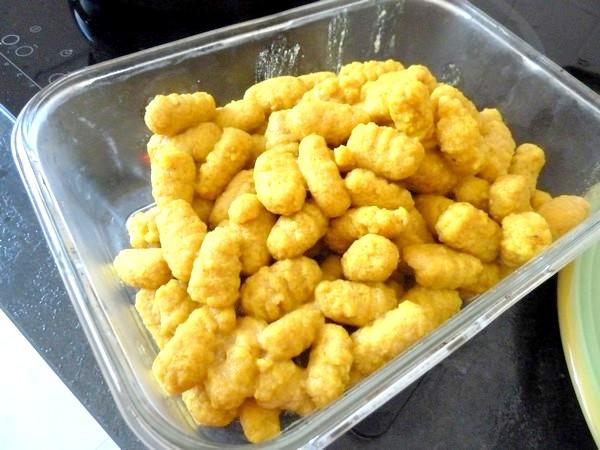 gnocchis de pommes de terre aux epices egoutter