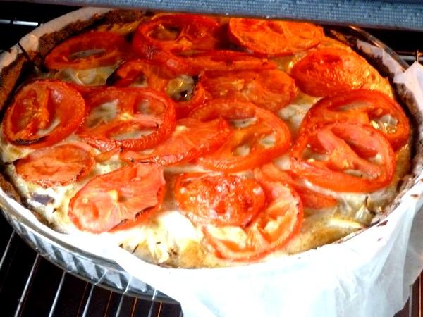 tarte oignons tomates enfourner