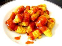gnocchis de pommes de terre aux epices dressage