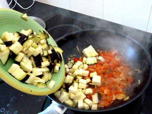 ratatouille et graines germees aubergine