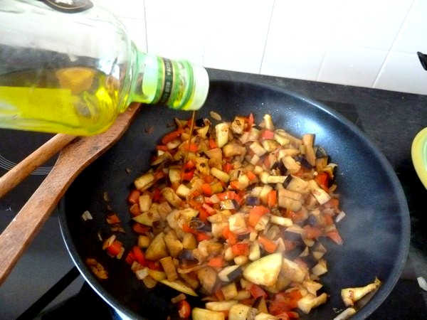 ratatouille et graines germees huile olive