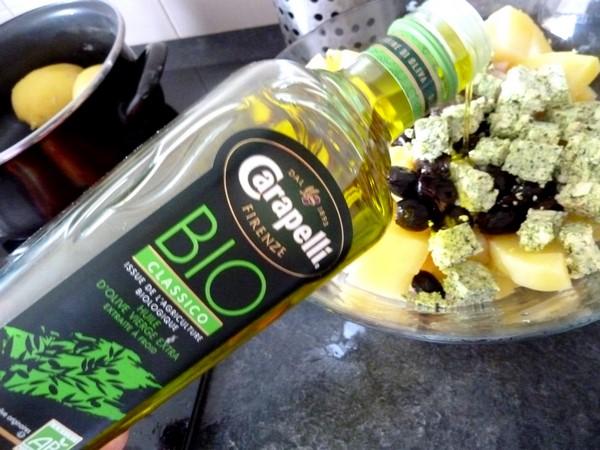salade pomme de terre tomate tofu huile olive