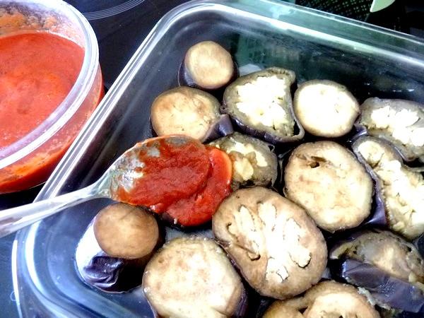 aubergines sauce tomate et noix de cajou sauce tomate prete