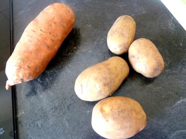 Galettes aux 2 patates rapees
