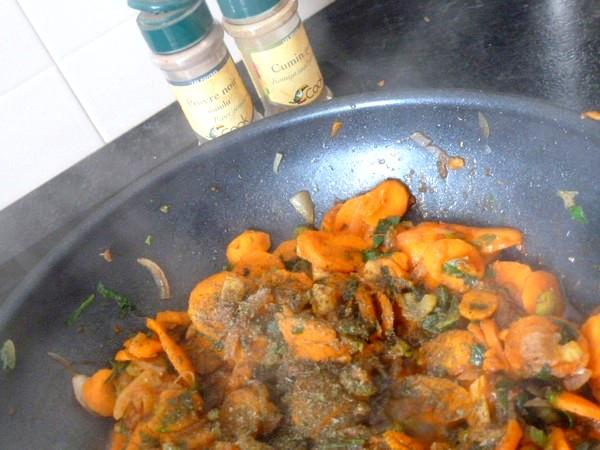 crozets maison aux carottes celeri epices