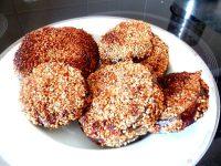 aubergine doree aux graines de sesame assiette