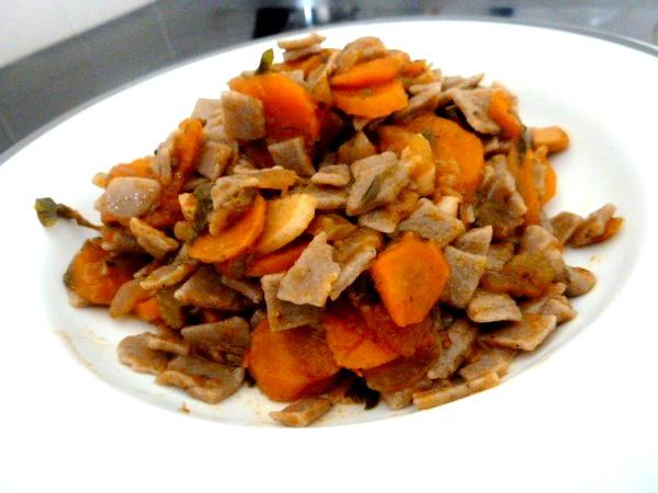 crozets maison aux carottes celeri dresser