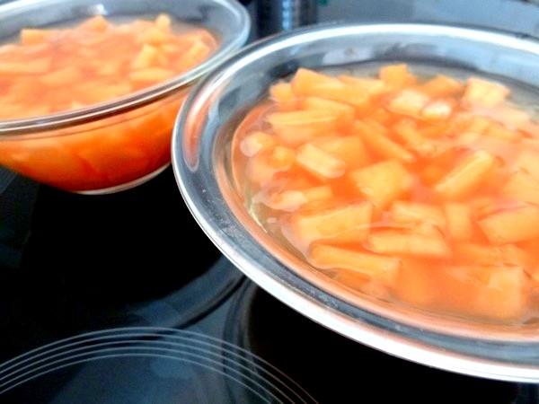 melon et gelee thym citron dessert