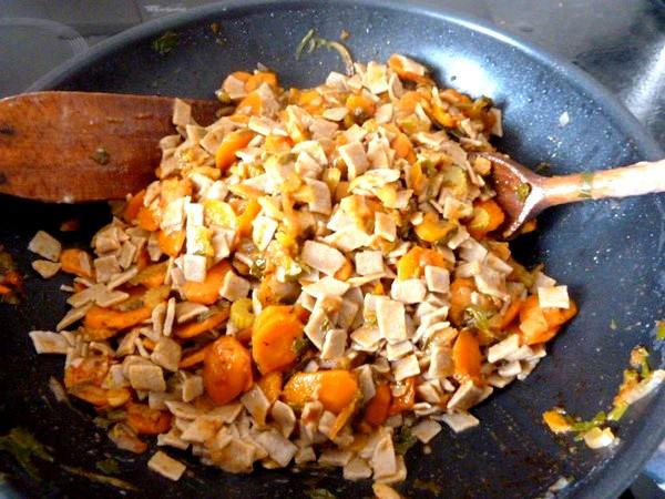 crozets maison aux carottes celeri melanger
