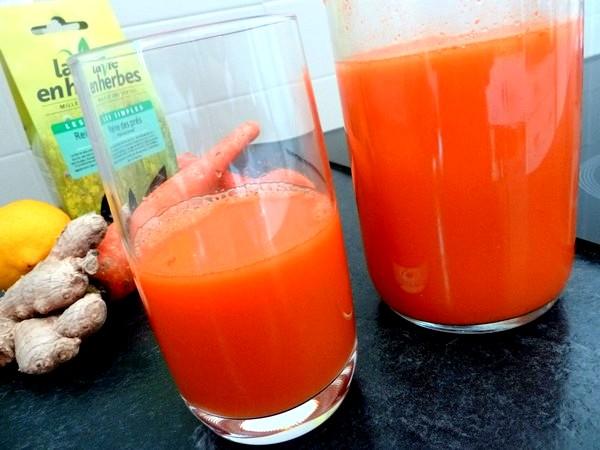 jus de carottes à la reine des pres servir frais
