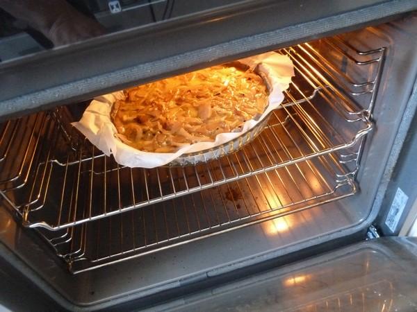 tarte a l'oignon rouge four 190