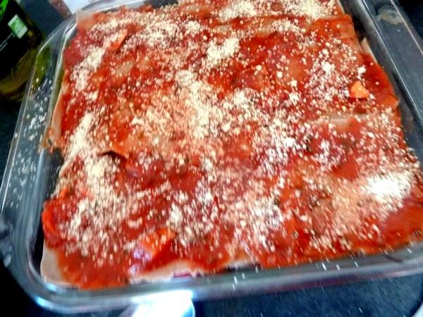 Lasagnes aux aubergines et tomates cajou