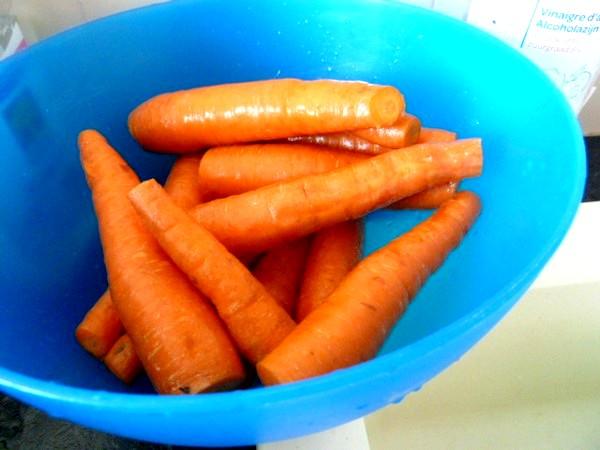 jus carottes celeri couper bouts