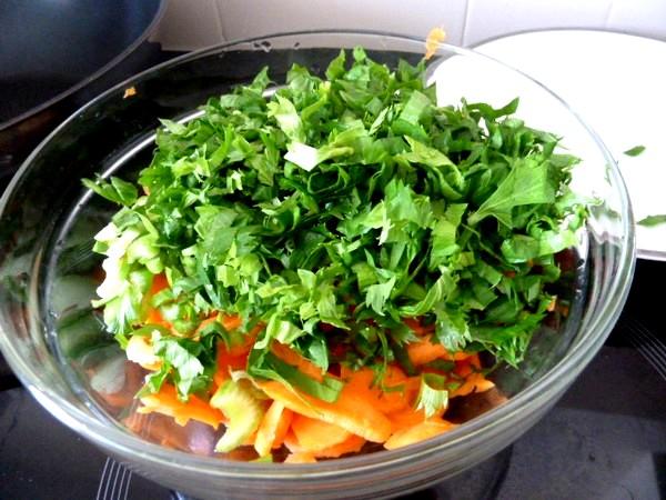 crozets maison aux carottes celeri feuilles