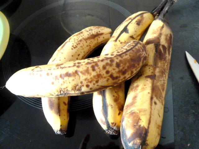 framboises sur creme banane patate douce fruits