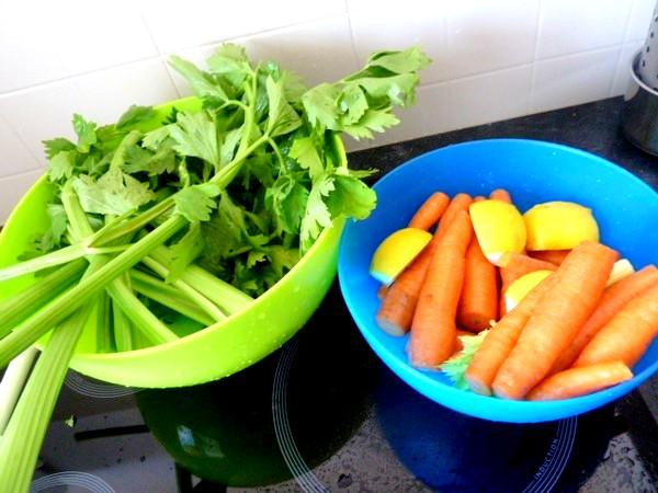jus carottes celeri egoutter
