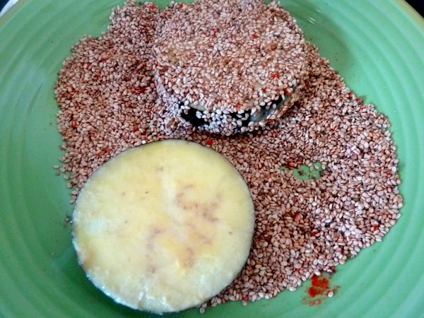 aubergine doree aux graines de sesame