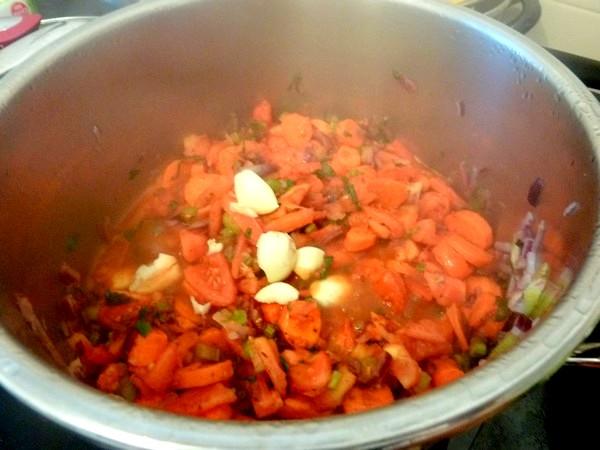 poivrons farcis aux legumes et tofu ail