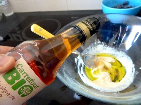 pousses epinards et graines germees aux noix de cajou vinaigre cidre