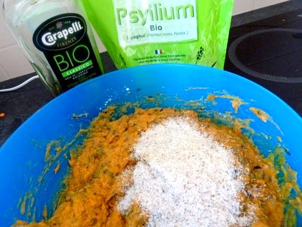 Puree de patate douce aux olives huile psyllium