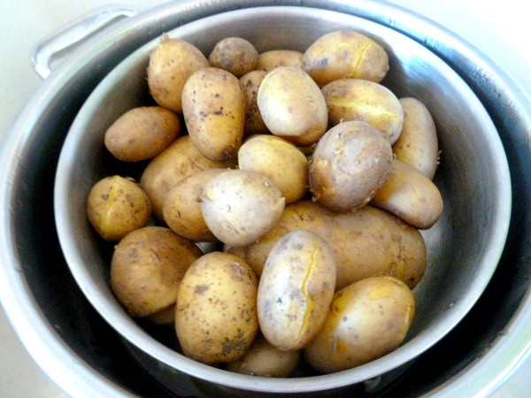 creme de blettes aux pommes de terre cuites