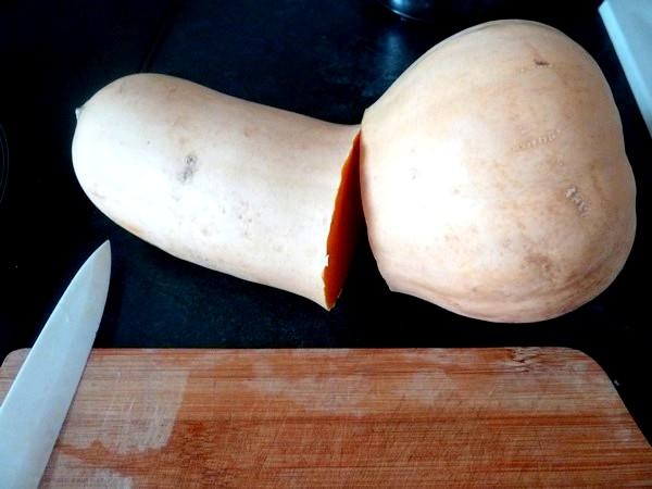 Courge butternut farcie aux graines
