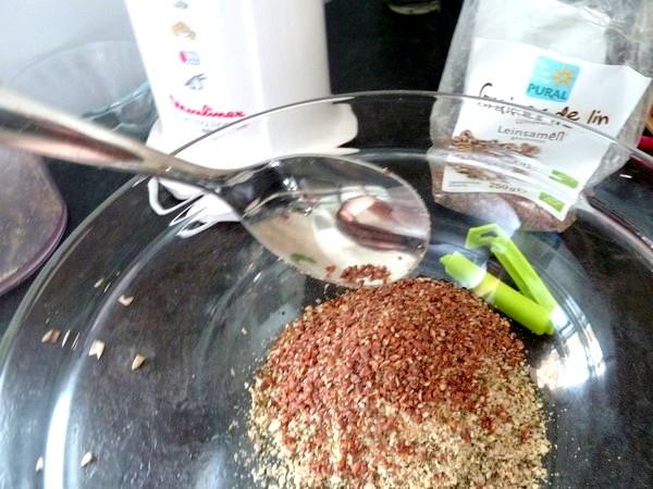 Courge butternut farcie aux graines graines lin