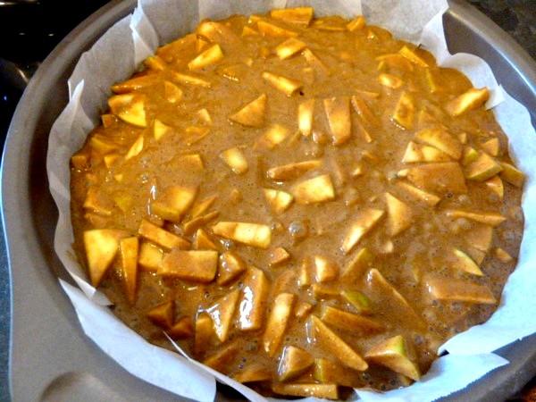 gateau-pommes-melasse-cuire