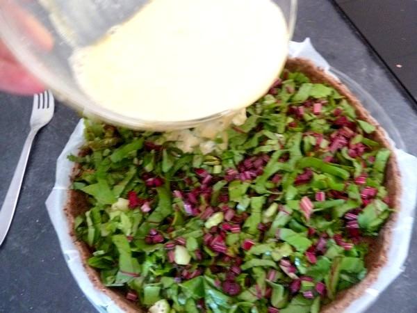 tarte aux graines garniture fanes et celeri arroser