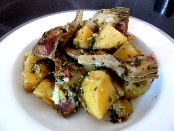 artichauts-pommes-de-terre-persilles-servir