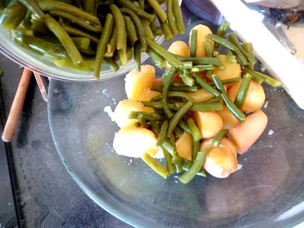 salade-proteinee-haricots-verts-tofu-chanvre-tiede