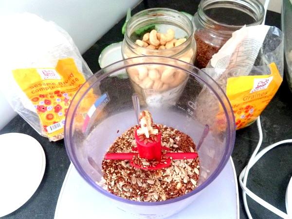 tarte aux graines garniture fanes et celeri mixer graines