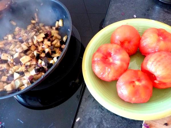aubergines a la tomate eplucher