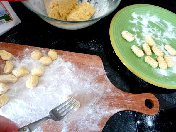 gnocchis pomme de terre à poeler couper bouler rouler