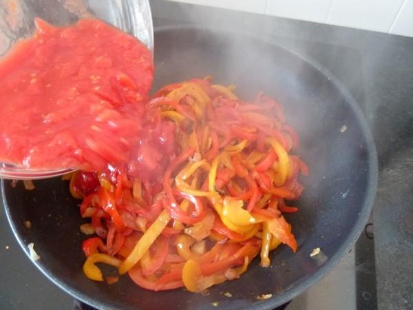 piperade-poivrons-rouge-et-jaune-mouiller