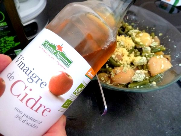 salade-proteinee-haricots-verts-tofu-chanvre-vinaigre-cidre