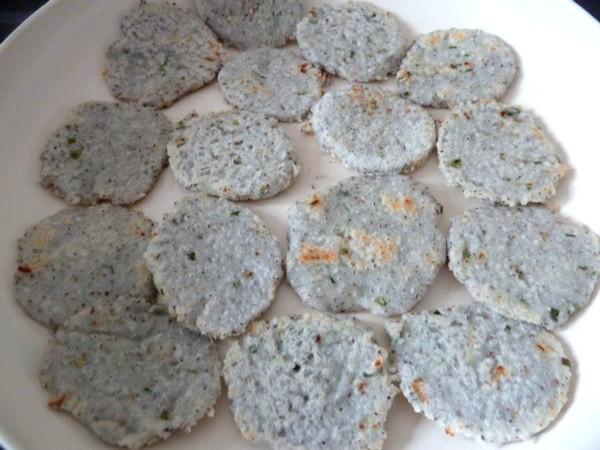 Galettes semoule de riz et graines de chia - Graines de potimarron grillees a la poele ...