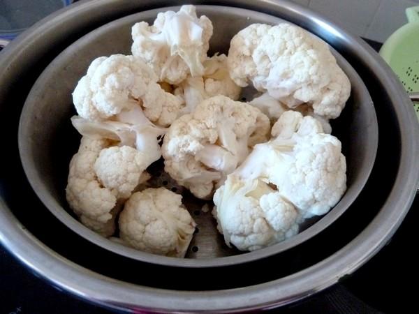 bouquets de chou-fleur au curry rincer cuire vapeur