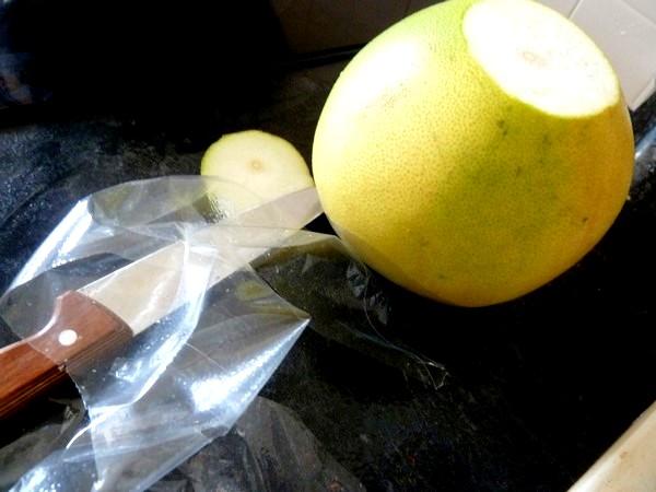 crudités noix de coco pamplemousse chinois rincer