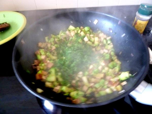 brocolis au tofu fume persil
