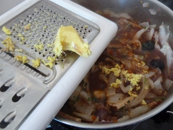 chou chinois au tofu jus gingembre