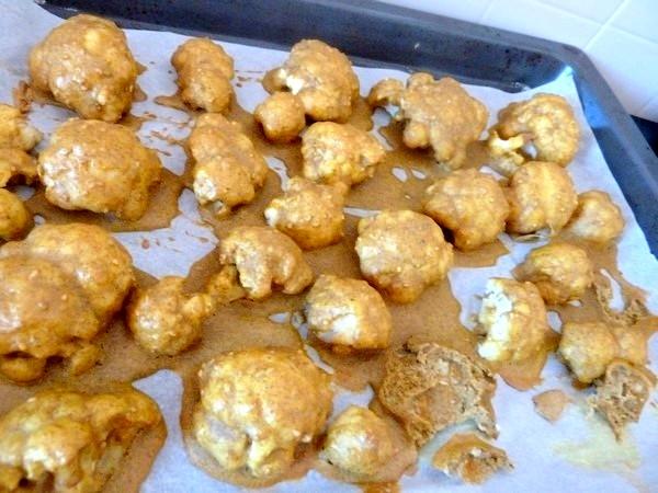 bouquets de chou-fleur au curry deposer